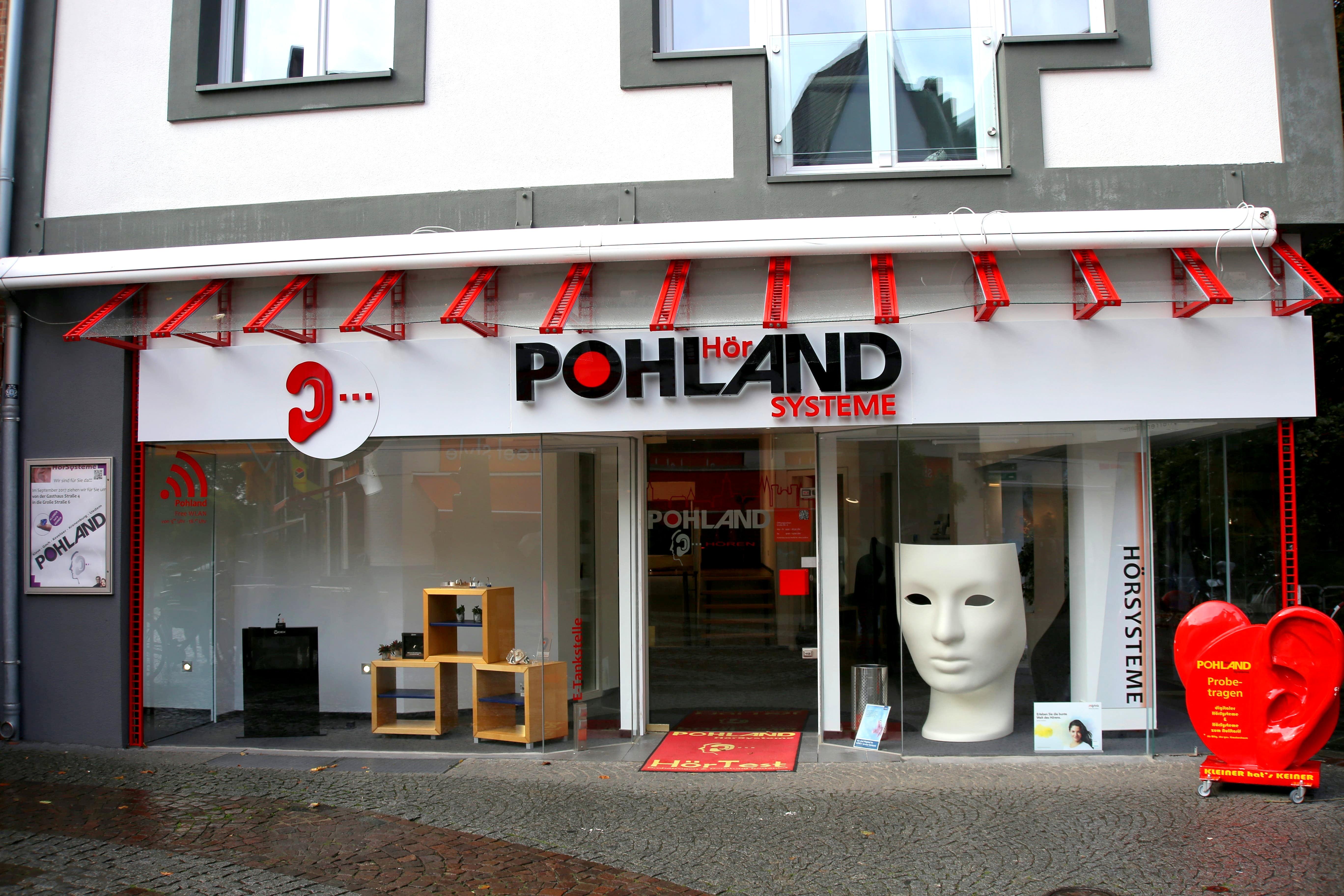 Aussenfassade Pohland Hörakustik KU